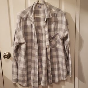 Plaid Old Navy Button up